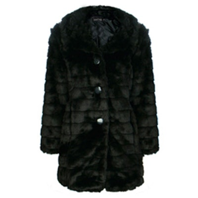 Evelyn Black Faux Fur Coat