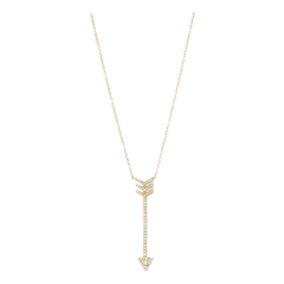 Core White Topaz Arrow Necklace