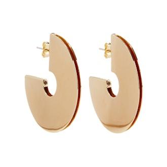 Mair Gold-Plated Topaz Hoop Earrings
