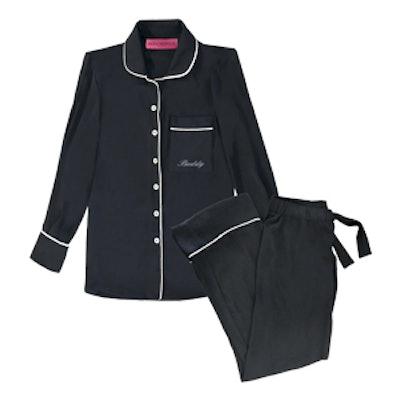 Noir Silk Pajama Set