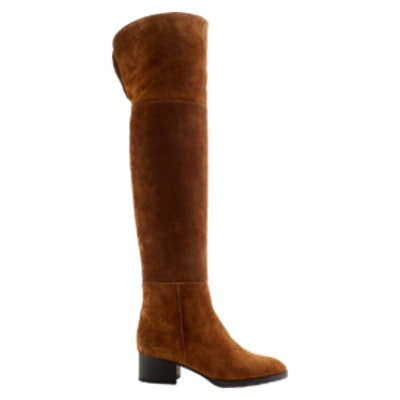 Suede Stacked Over-The-Knee Boots