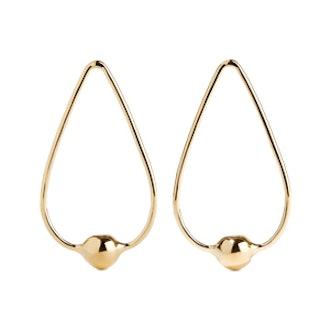 Orb Drop Gold-Plated Earrings