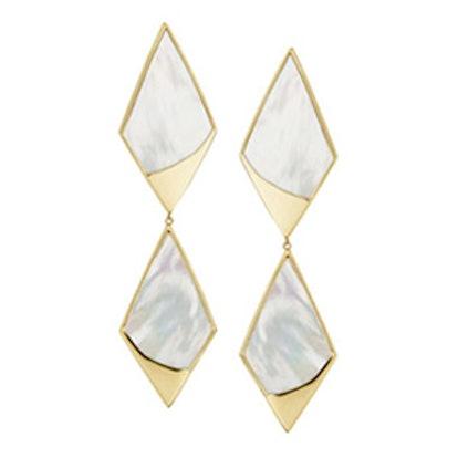 Duo Satin Kite Drop Earrings