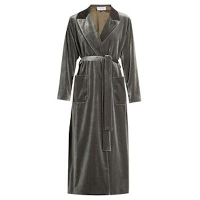 Belted Velvet Coat