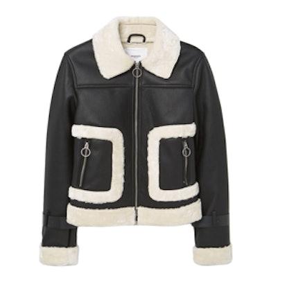 Faux Fur Appliqué Jacket