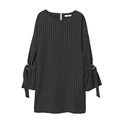 Pinstripe Print Dress