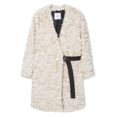 Belt Faux Fur Coat