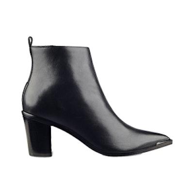 Nellien Pointy-Toe Block-Heel Booties