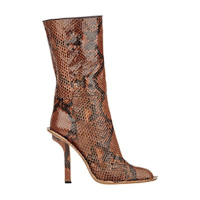 Snakeskin Mid-Calf Boots