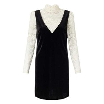 Velvet and Lace Shift Dress