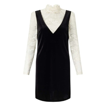 Velvet and Lace Shift Dress