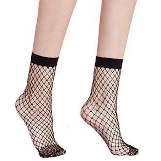 Oversized Fishnet Ankle Socks
