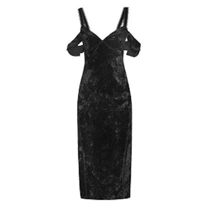 Kinsley Off-The-Shoulder Velvet Dress