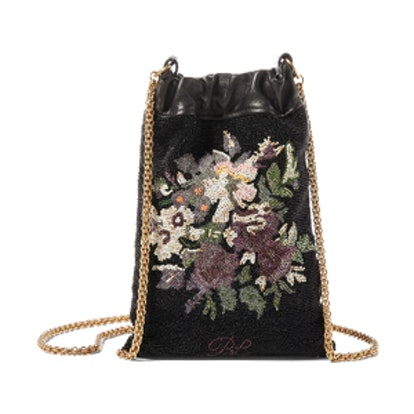 Beaded Nappa Chain Pouch