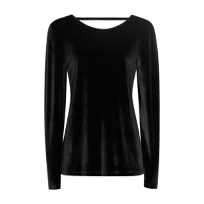 Maz Velvet Long-Sleeved Top