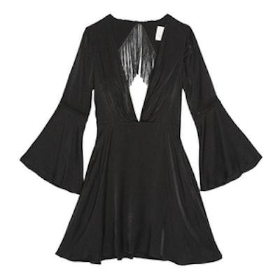 Spartel Fringe Mini Dress