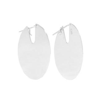 Paillettes Silver Earrings
