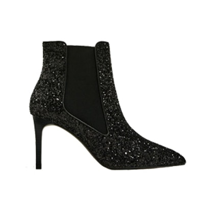 Shiny High Heel Ankle Boots