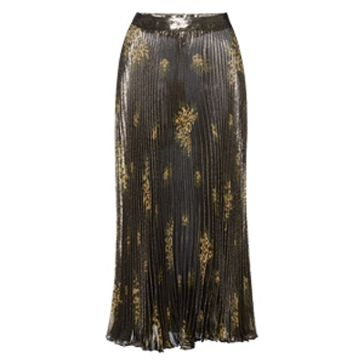 Pleated Lurex Skirt