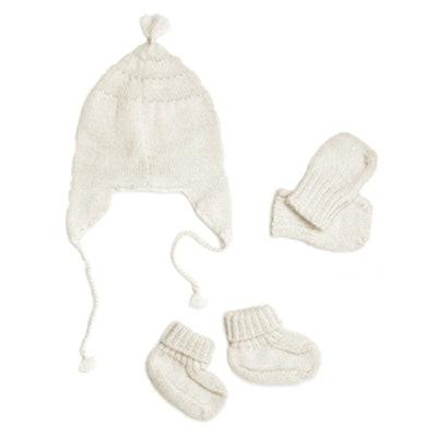 Petite Vigogne Baby Alpaca Mitten, Hat & Bootie Set