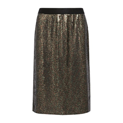 Sequined Silk-Chiffon Skirt