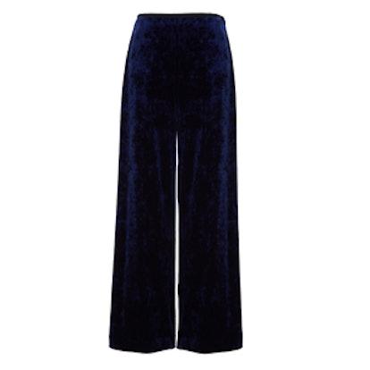 Stretch Velvet Easy Pants