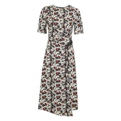 Scratch Floral Midi Dress