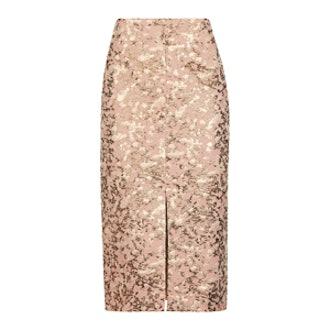 Camouflage Jacquard Pencil Skirt