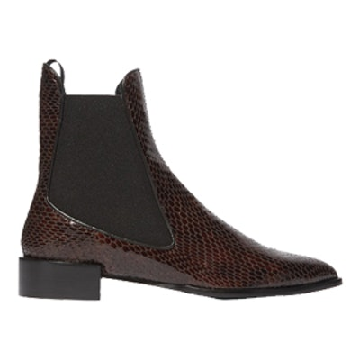 Belvoir Snake-Effect Leather Ankle Boots