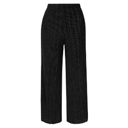 Velvet Pleated Trouser
