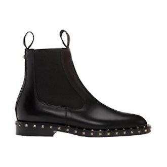 Black Soul Stud Chelsea Boots