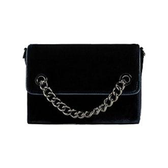 Velvet Chain Crossbody Bag