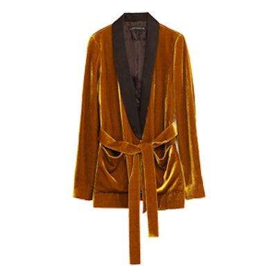 Velvet Jacket With Belt