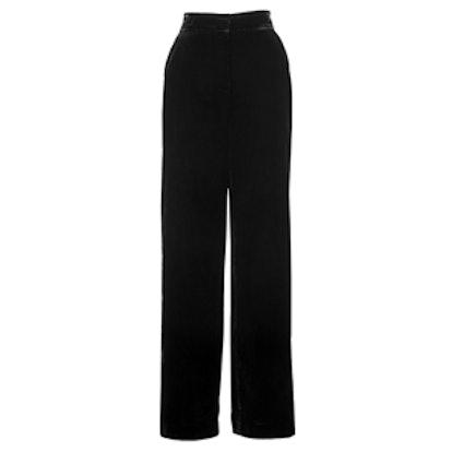 Eden Wide Leg Velvet Trousers