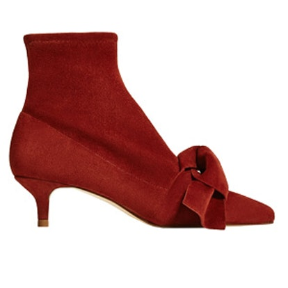 High Heel Ankle Boots With Bow
