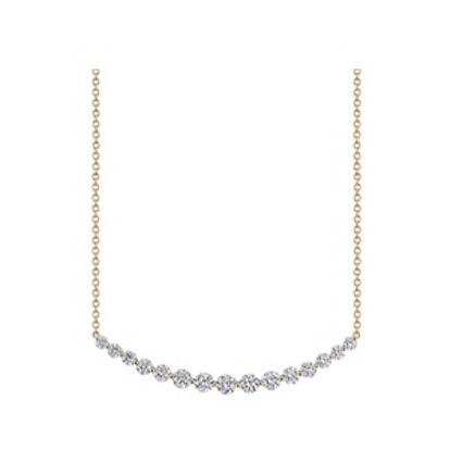 Crescent Diamond Necklace