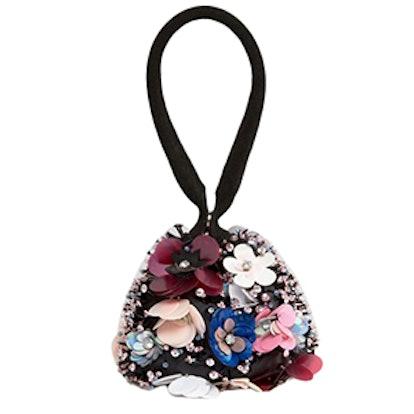 Floral Embellished Pouch Bag