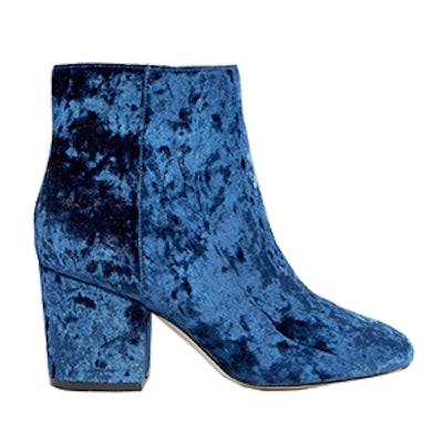 Rachelle Velvet Heeled Ankle Boots
