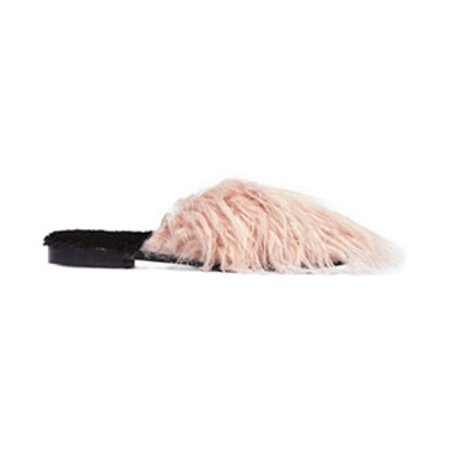 Aspen Mongolia Faux Fur and Shearling Slippers