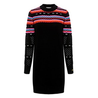 Rainbow Love Lace Sweater Dress