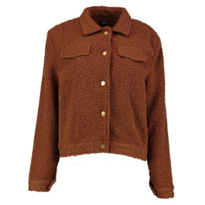 Megan Teddy Boxy 2 Pocket Jacket
