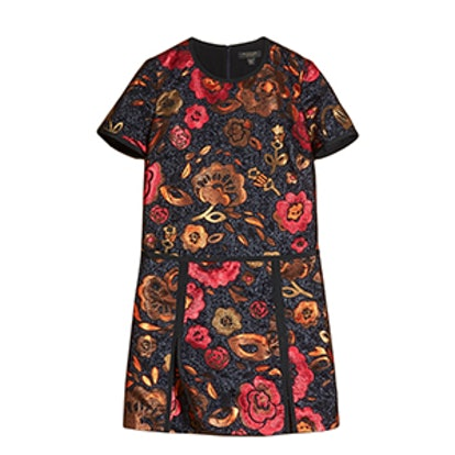 Floral Jacquard T-Shirt Dress