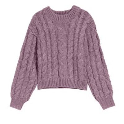 Braid Crop Sweater