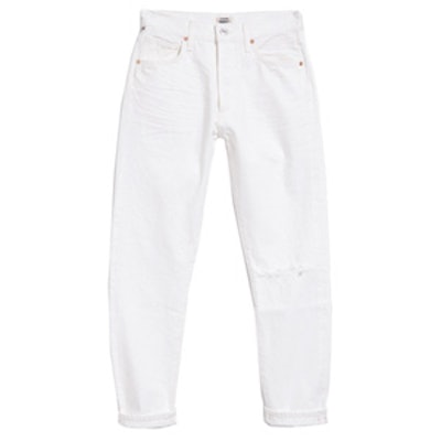 Liya High Rise Classic Fit Distressed Selvedge Jeans
