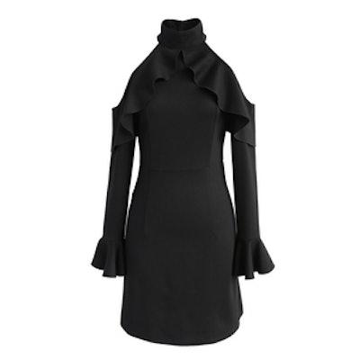 Full of Charm Cold-Shoulder Dress