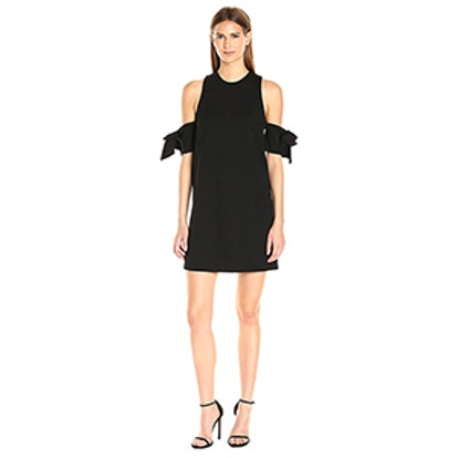 GUESS Sleeveless Adalene Bow Tie Sleeve Dress