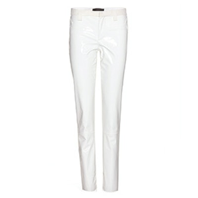Patent Leather and Suede Trousers