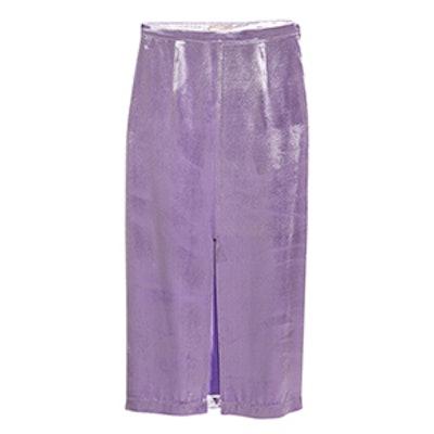 Silk-Blend Velvet Skirt