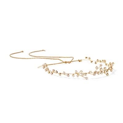 Orion Gold-Plated Swarovski Crystal Headband