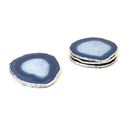 Blue and Silver Agate Coasters